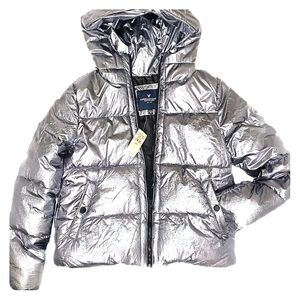 American Eagle Outfitters Puffy Metallic Coat